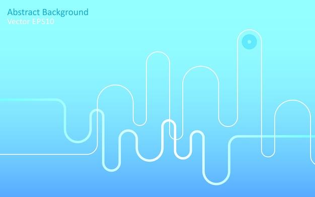 Fond de vecteur abstrait bleu clair Vecteur Premium