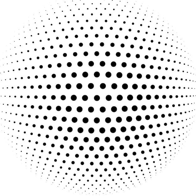 Fond De Vecteur Abstrait Demi-teinte Sphère Vecteur gratuit