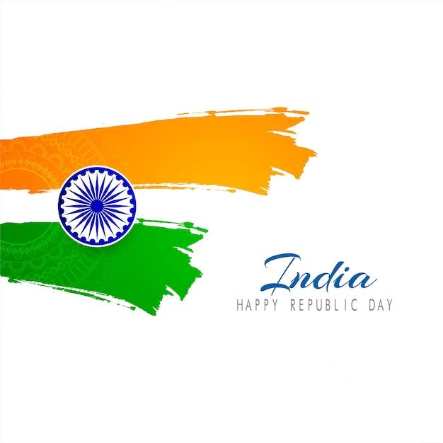 Fond de vecteur belle thème drapeau indien Vecteur Premium