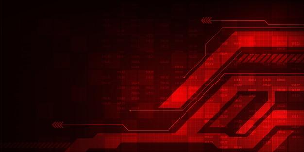 Fond de vecteur dans le concept de technologie. Vecteur Premium