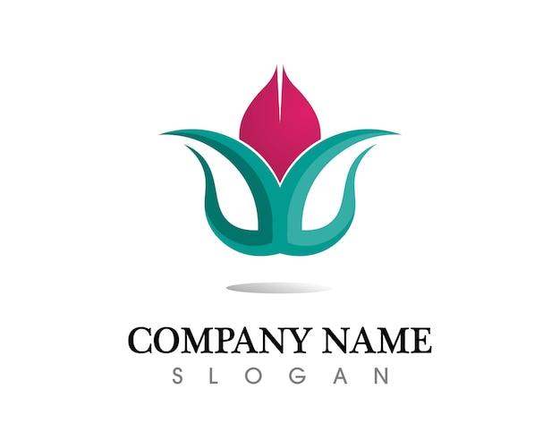 Fond de vecteur icône lotus stylisé Vecteur Premium