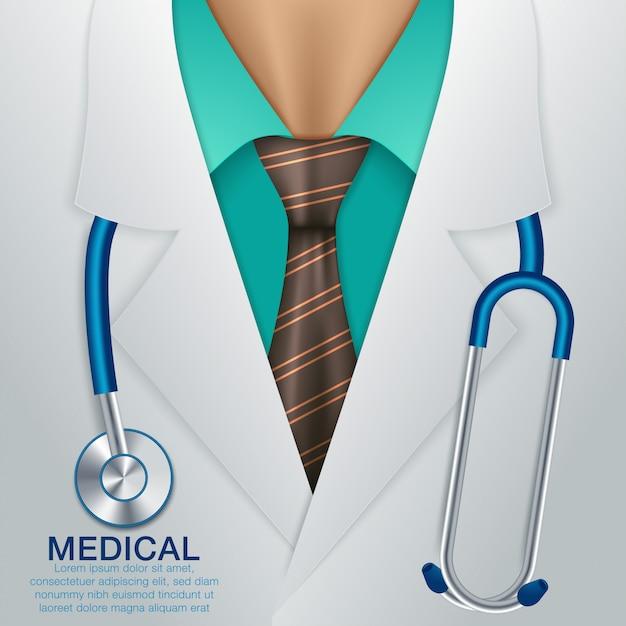 Fond De Vecteur Médical. Vecteur Premium