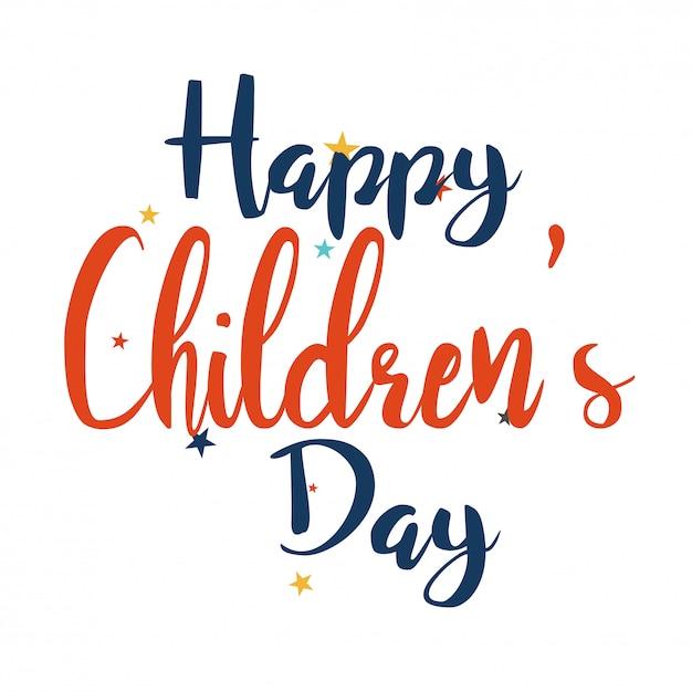 Fond de vecteur pour enfants jour Vecteur Premium
