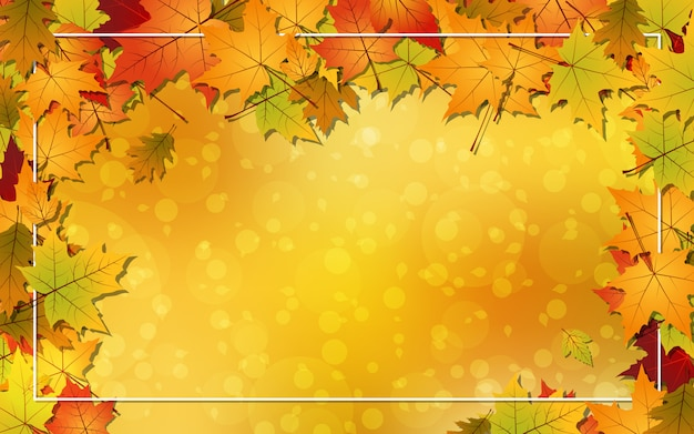Fond de vecteur de style automne Vecteur Premium