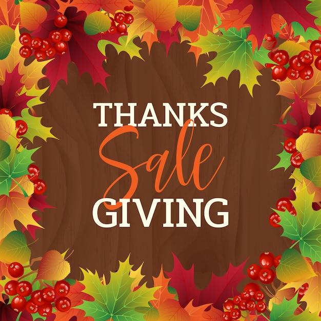 Fond de vecteur de vente coloré thanksgiving Vecteur Premium