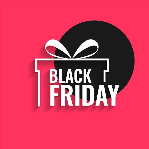 Fond De Vendredi Noir Avec Cadeau Vecteur gratuit
