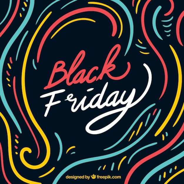 Fond de vendredi noir multicolore Vecteur gratuit