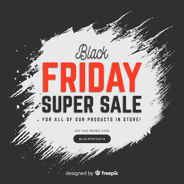 Fond de vendredi noir Vecteur gratuit
