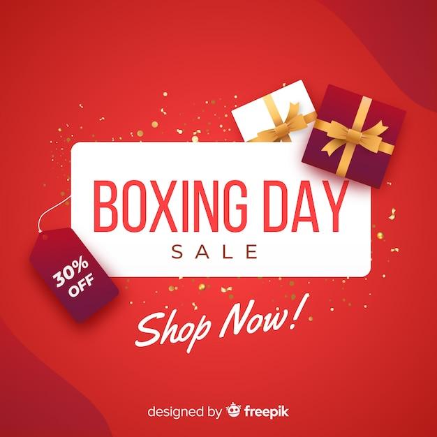 Fond de vente de boxe réaliste Vecteur gratuit