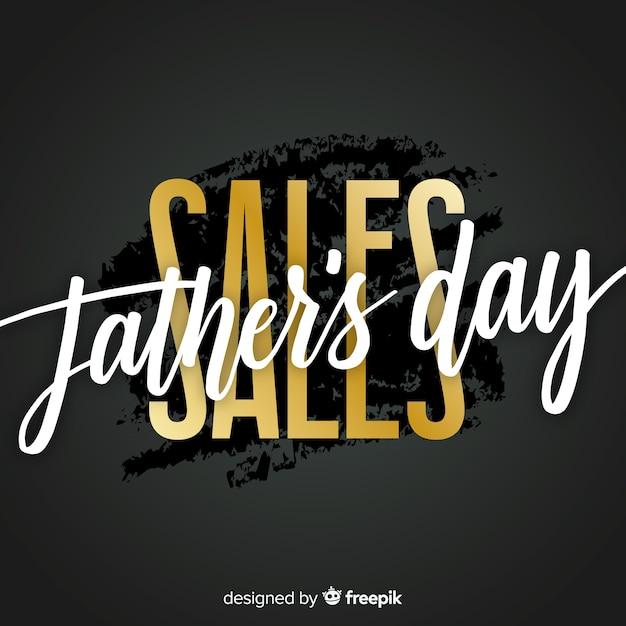 Fond de vente créative fête des pères Vecteur gratuit