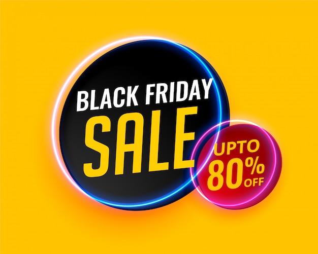 Fond de vente créative moderne vendredi noir Vecteur gratuit