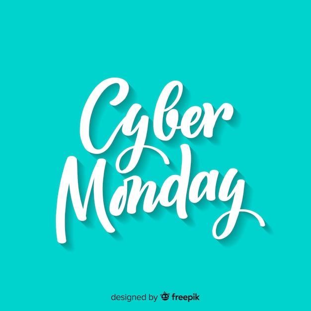 Fond de vente cyber lundi avec lettrage Vecteur gratuit