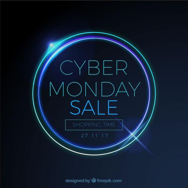 Fond de vente cyber lundi Vecteur gratuit