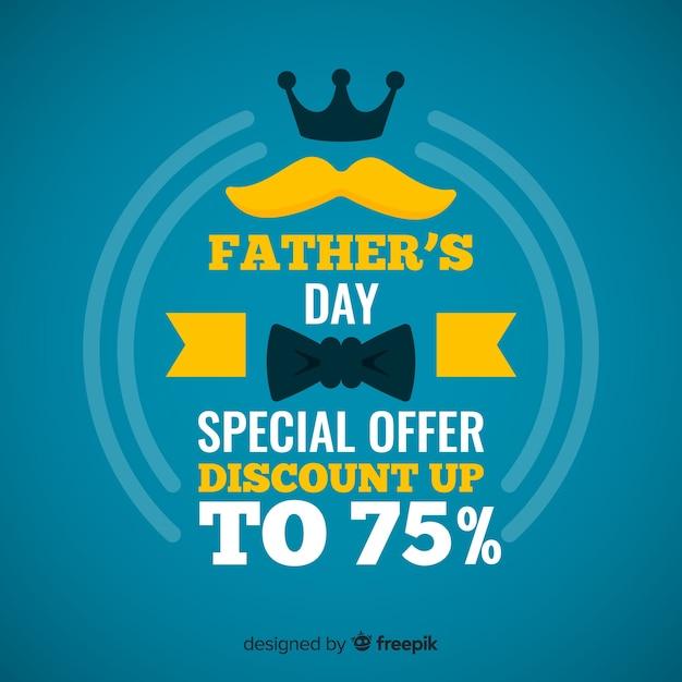 Fond de vente fête des pères Vecteur gratuit