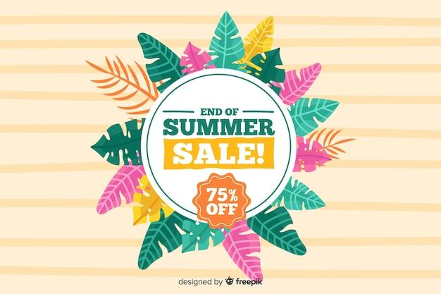 Fond de vente de fin d'été Vecteur gratuit