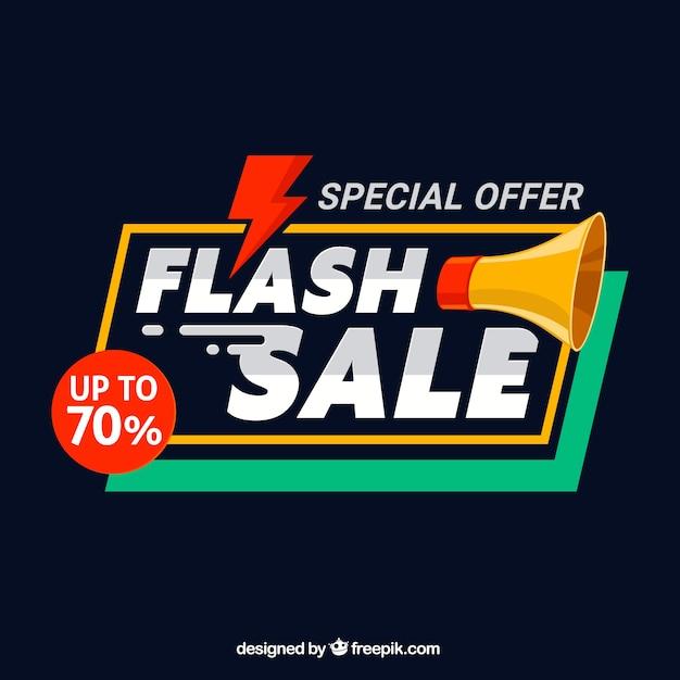 Fond de vente flash dans un style plat Vecteur gratuit
