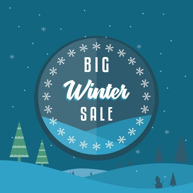 Fond de vente d'hiver Vecteur Premium