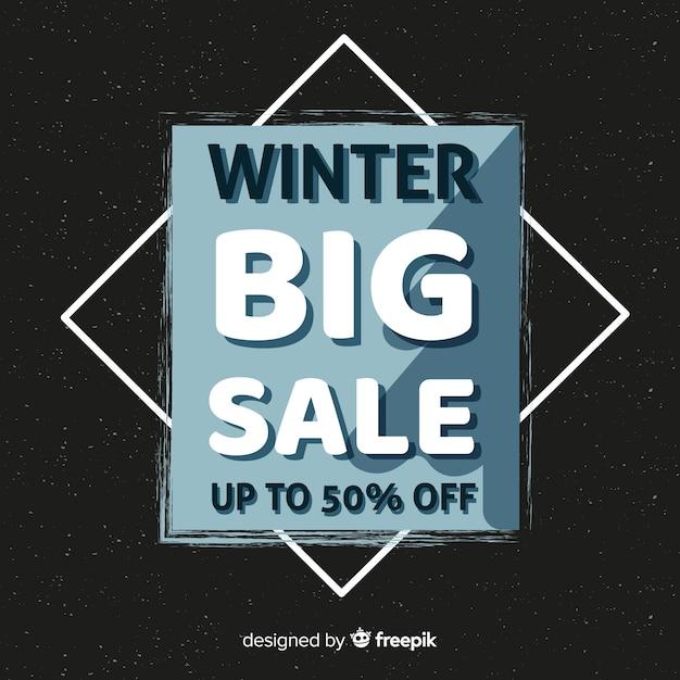 Fond de vente d'hiver Vecteur gratuit