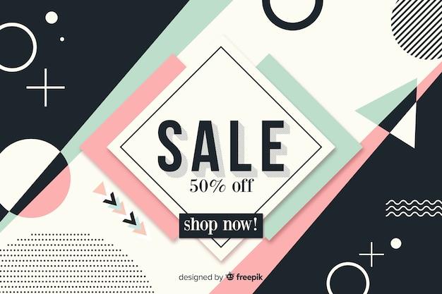 Fond de vente minimaliste design plat Vecteur gratuit