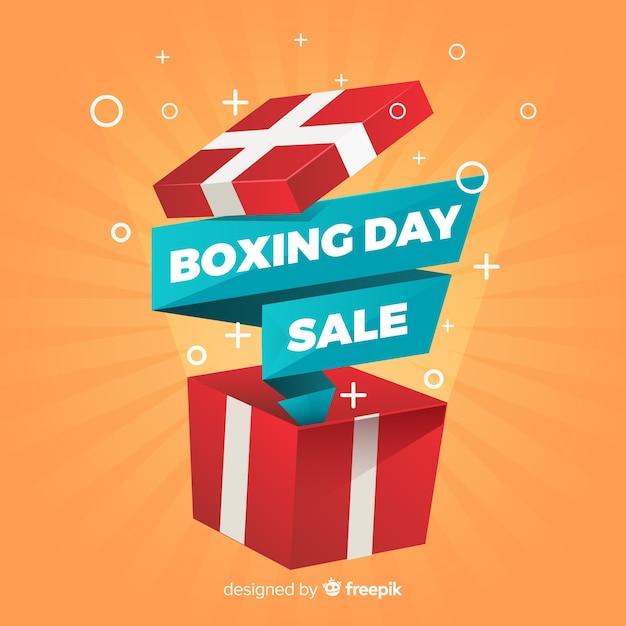 Fond De Vente Plat Jour De Boxe Vecteur gratuit