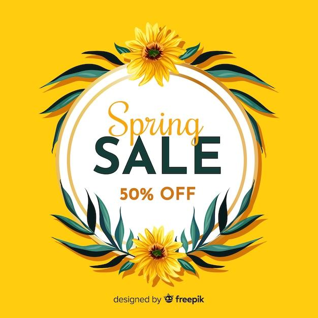 Fond de vente de printemps Vecteur gratuit