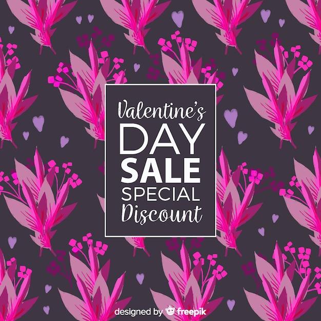 Fond de vente de saint valentin Vecteur gratuit