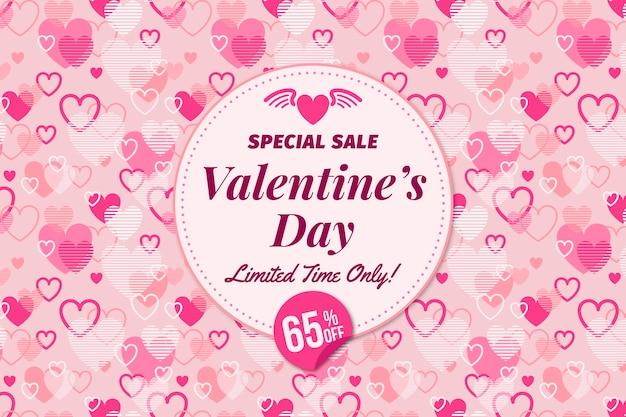 Fond de vente spéciale saint valentin Vecteur gratuit