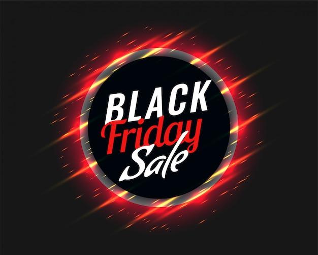 Fond de vente vendredi noir avec des traînées rouges brillantes Vecteur gratuit