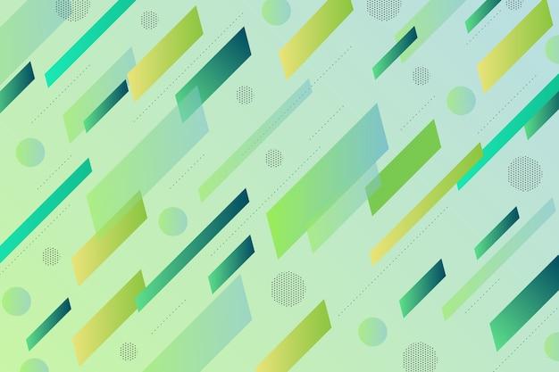 Fond Vert Avec Des Formes Vertes Vecteur gratuit