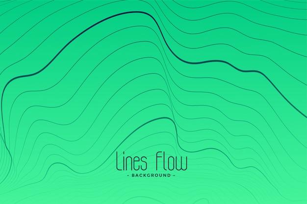 Fond vert avec lignes de contour noires Vecteur gratuit