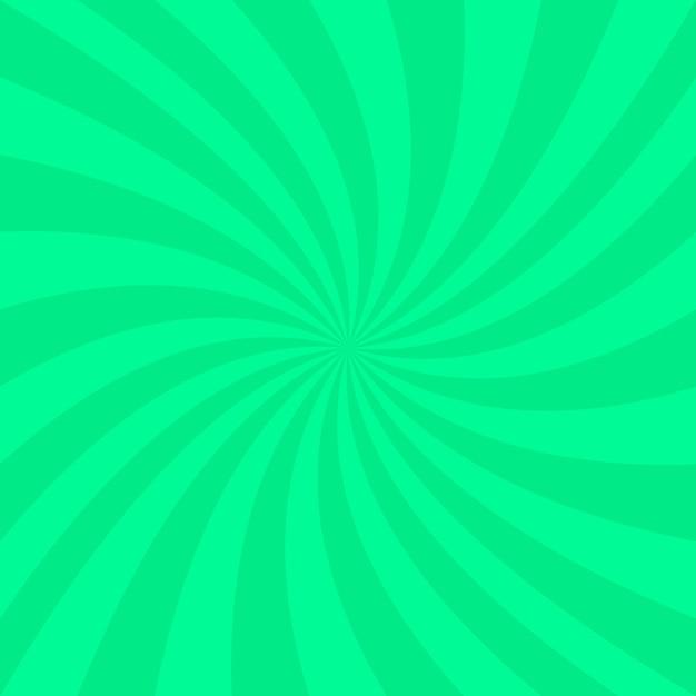 Fond vert en spirale abstrait - conception de vecteur à partir de rayons Vecteur gratuit