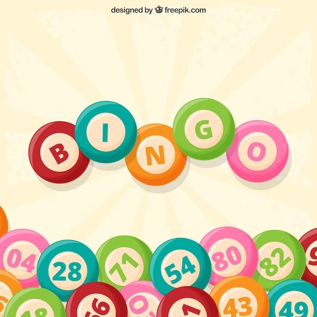 Fond vintage de balles de bingo Vecteur gratuit