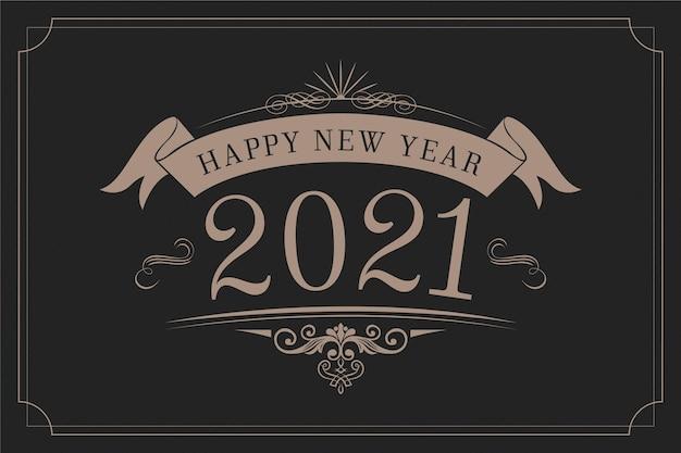 Fond Vintage Nouvel An 2021 Vecteur gratuit