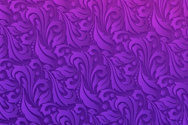 Fond violet fleurs ornementales abstraites Vecteur gratuit