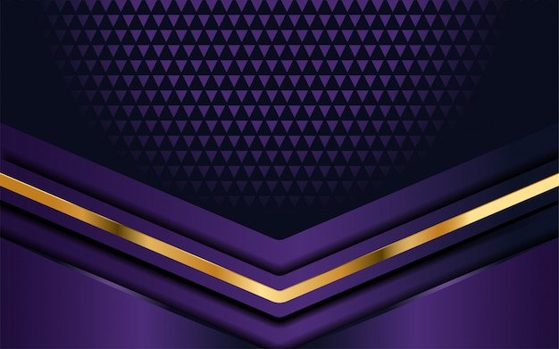 Fond violet de luxe avec couche de chevauchement Vecteur Premium