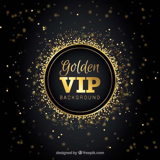Fond vip élégant avec effet bokeh doré Vecteur gratuit