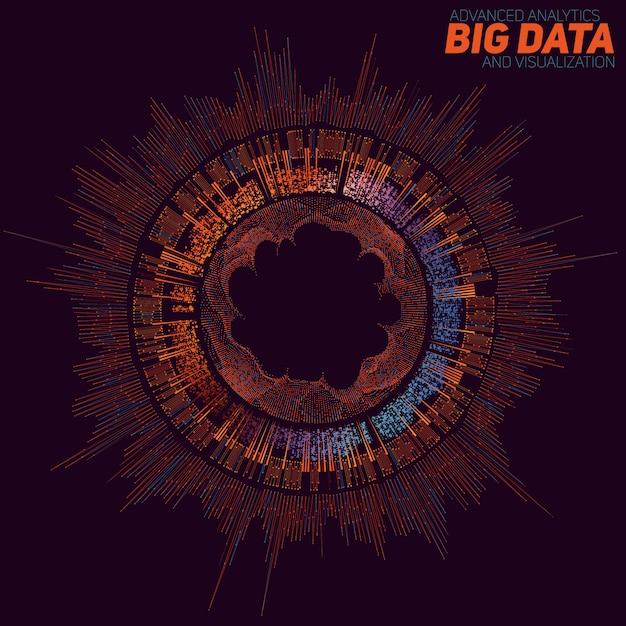 Fond De Visualisation De Big Data Vecteur gratuit