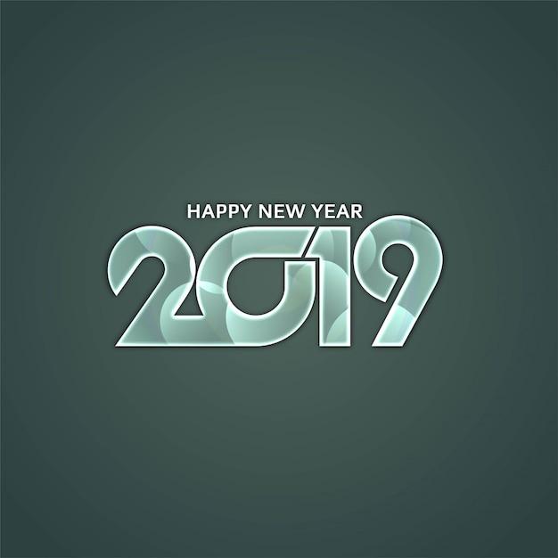 Fond de voeux de bonne année 2019 Vecteur gratuit