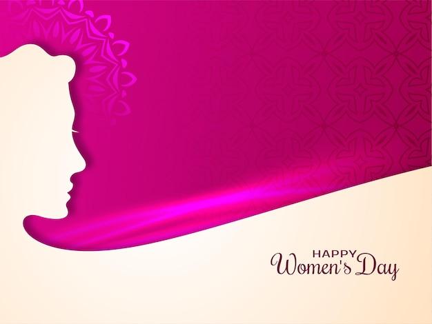 Fond De Voeux De Bonne Journée Des Femmes Vecteur gratuit