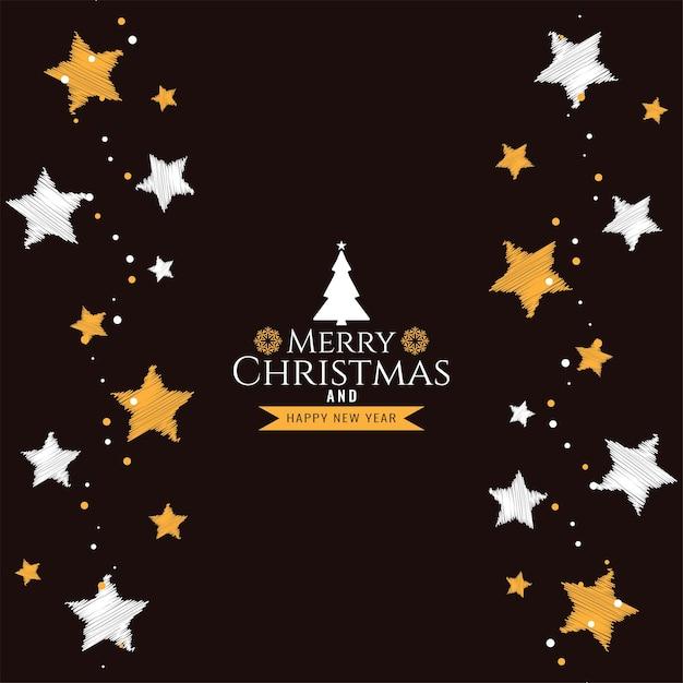Fond De Voeux Décoratif Joyeux Noël Festival Vecteur gratuit