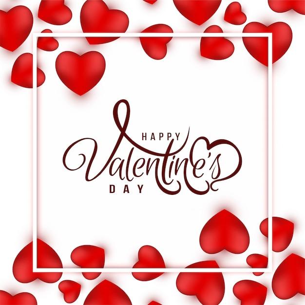 Fond De Voeux Joyeux Saint Valentin Vecteur gratuit