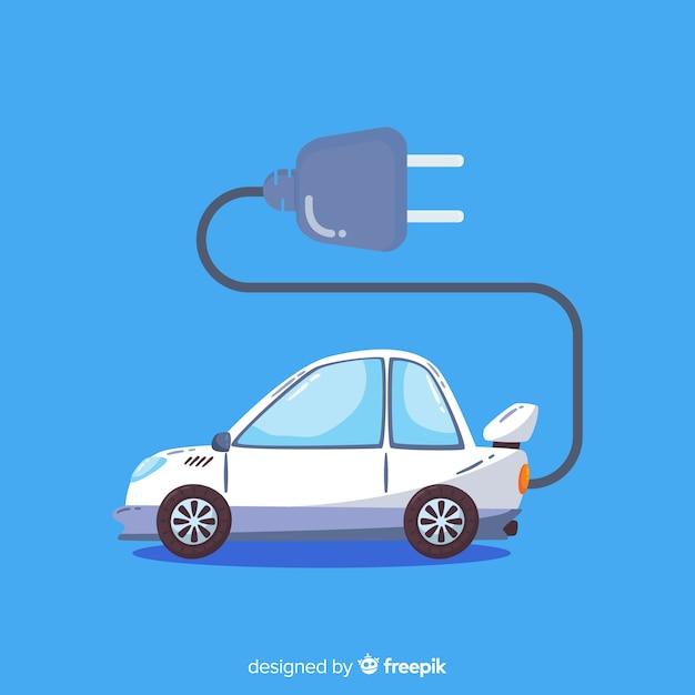 Fond de voiture électrique Vecteur gratuit