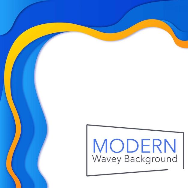 Fond wavey moderne Vecteur Premium