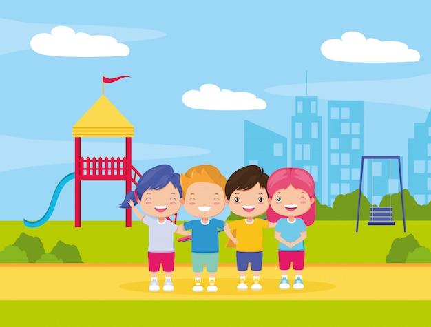 Fond de zone enfants Vecteur gratuit