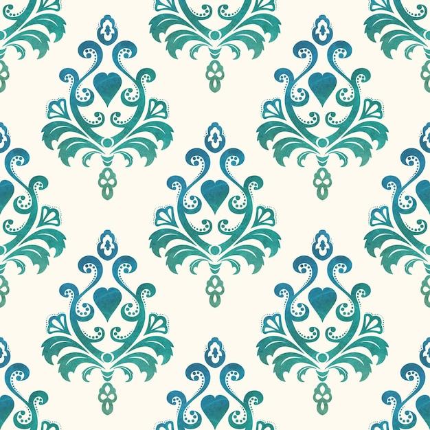 Fonds D'écran Sans Couture Aquarelle Dans Le Style Baroque. Illustration Vectorielle. Vecteur Premium