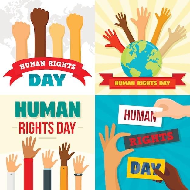 Fonds de la journée des droits Vecteur Premium