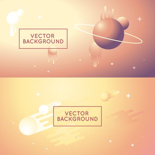 Fonds résumé de vecteur en dégradé de couleurs vives Vecteur Premium