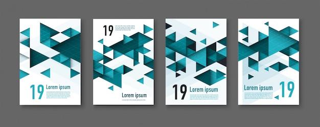 Fonds triangulaires géométriques colorés abstraits. flyer moderne. Vecteur Premium