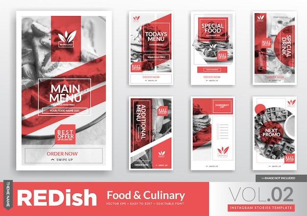 Food & culinary instagram stories modèle de promotion Vecteur Premium