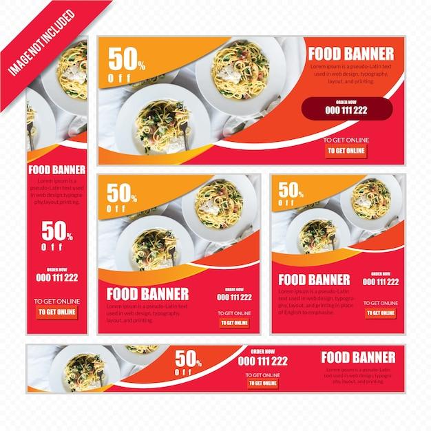 Food web banner se pour restaurant Vecteur Premium